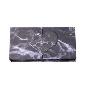 Black marble eyelash packaging