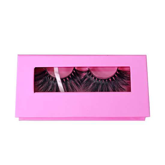 Cute pink lashes packaging