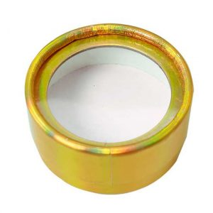 Gold round eyelash packaging from 3D mink lashes vendor