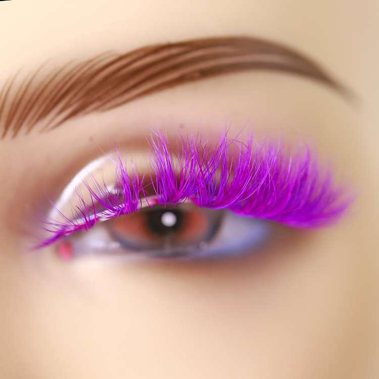 Wholesale colorful 3D mink lashes