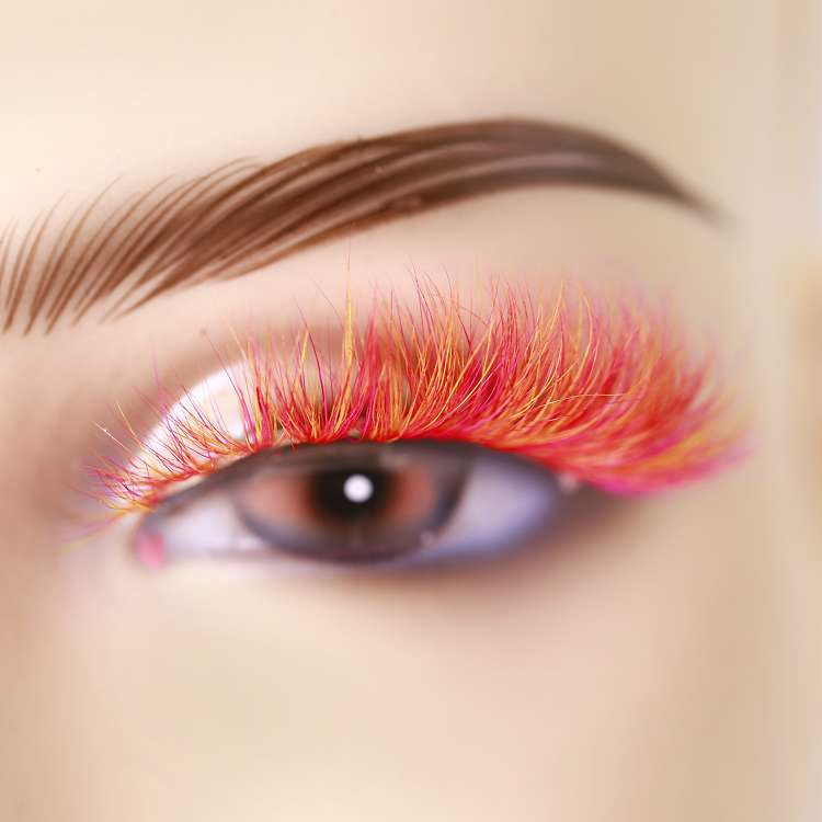 wholesale colored fascinating mink lashes